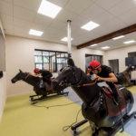 salle des simulateurs de courses du campus de Gouvieux
